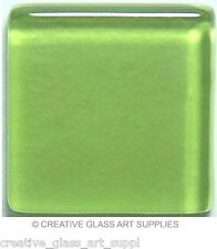 50 ct - 3/8 inch Lime Green Glass Mosaic Tiles