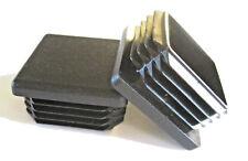 "4 pk - 1 1/2"" Square Tubing Plastic Plug 1-1/2 Inch End Cap 11-19 Ga 1.5"" 11/2"""