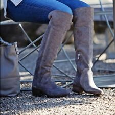 VINCE CAMUTO Kochelda Over The Knee Boots Gray Suede sz 7 M