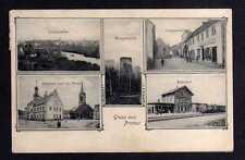 108774 AK Priebus Bahnhof 1907 Sorauerstraße Hungerturm Rathaus Kirche Totalansi