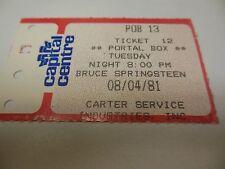 1981 Bruce Springsteen Ticket guter Zustand Capital Centre Landover/DC