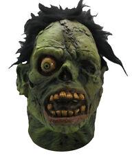 Halloween GRAVEYARD GREEN FLESH SHOCK MONSTER LATEX DELUXE MASK Haunted House