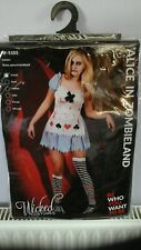 Alice In Zombieland Horror Film Fancy Dress Up Party Costume Outfit New Size 6-8