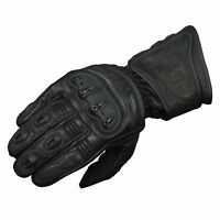 Motorbike Motorcycle Leather Gloves ZR Race Natural Cowhide premium A+ Grade