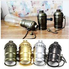 s PORTALAMPADA E27 VINTAGE EDISON CON INTERRUTTORE RETRO LAMP HOLDER WITH SWITCH