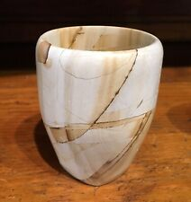 """Natural Onyx Marble Stone Wine Goblets / Glasses - 4"""""""