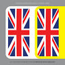 2 x Union Jack Number Plate Stickers EU European Car Badge Vinyl - SKU1107