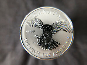 2016 Canada Bird of Prey Peregrine Falcon Reverse Proof 1oz .9999 Silver Coin