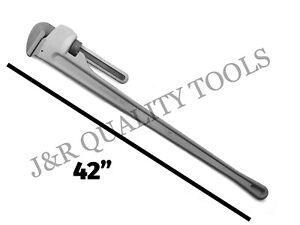 "48"" Large Aluminum Pipe Wrench 4 Foot Long Handle Plumbers Tool 8"" jaw Capacity"