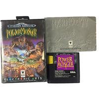 Sega Mega Drive Power Monger Powermonger Game Complete In Case With Manual