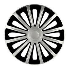 4 x Radkappen Radzierblenden 16 Zoll schwarz silber von Versaco Typ Trend DC