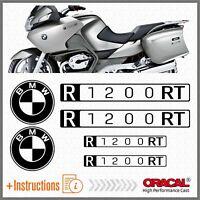 6x BMW R1200RT Black 2007 MOTO ADESIVI PEGATINA R 1200 RT AUTOCOLLANT AUFKLEBER