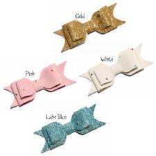 120PCS 9.5cm Newborn Three Layers Glitter Gold Powder Hair Bows NO clips