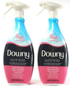 2Downy Wrinkle Releaser Odor Eliminator Fabric Refresher Static Remove 33.8Fl oz