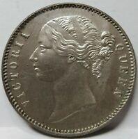 INDIA BRITISH 1 Rupee 1840 UNC Victoria 28 Berries Raised WW Silver #C02