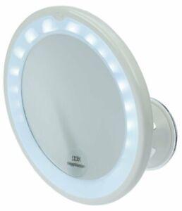 Spiegel mit LED Beleuchtung, Saugfuss, 10-fach Vergrößerung