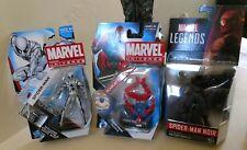 "Marvel Universe lot of 3: White Future Foundation Scarlet Noir Spider-man 3.75"""