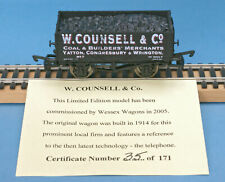 Dapol W Counsell, Yatton, Congresbury & Wrington, Mineral Wagon Nº 7 LE of 171