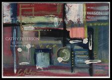 Motel + Shop Around Corner Original ACEO oil PAINTING Signed Fine Art C Peterson