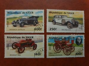 Niger - 1984 - Classic Cars - 4 stamp set - CTO