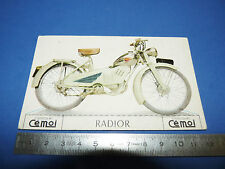 CHROMO 1950-1959 CHOCOLAT CEMOI DECOUPAGE MOTO MOTOCYCLETTE RADIOR N.S.U.