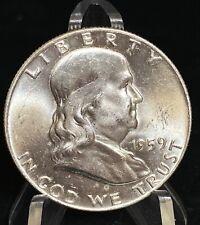 1959 Franklin Silver Half Dollar 50C Coin FBL