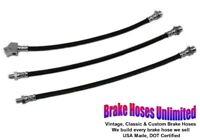 BRAKE HOSE SET Ford Mustang 1965 1966, Front Disc, with Single Exhaust