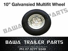 "10"" Galvanised Multi-fit Boat Trailer Wheel with Tyre  - Trailer Parts!"