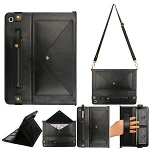 """Crossbody Strap Envelope Leather Handle Case For Samsung S5e 10.5"""" T720/T725"""