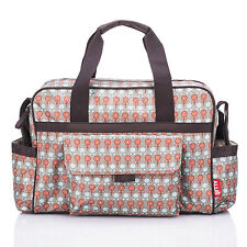 Allis Baby Changing Bag Luxury Nappy Diaper Bags Insulated - Fashion Red Grey