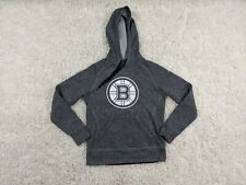 Adidas Boston Bruins Hoodie Women Medium Gray Silver White Climawarm Sweatshirt