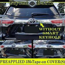 2014-2018 Toyota Highlander Chrome Tailgate Liftgate Handle Cover No SmartKeyHol(Fits: Toyota Highlander)