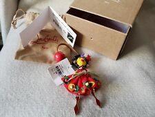 Auth New Christian Louboutin Mexiloubi Doll Multicolor Spikes Bag Charm Red Sole