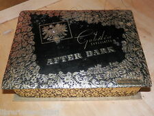Vecchia scatola in cartone vuota GOBELIN Chocolates AFTER DARK Cambridge vintage