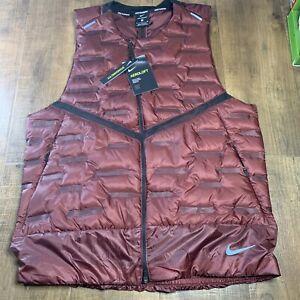 Nike Aeroloft Repel Reflective Lightweight Running Vest CU7797-624 Size Small