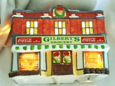 COCA COLA  TOWN SQUARE COLLECTION 7200 GILBERTS GROCERY1992 CHRISTMAS VILLAGE