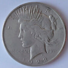 USA Peace Dollar - 1923 - 0.900 Silver - Good Condition - Charity Sale