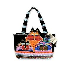 Laurel Burch Fat Cats Cut Out Ears Medium Tote Bag RETIRED ALMOST GONE