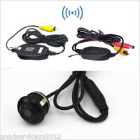 360° Rotatable CCD Car Reverse Backup Camera Wireless Transmitter & Receiver Kit