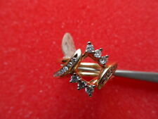 14K. YELLOW GOLD ******* DIAMOND SWIVEL RING GUARD 7.5 GRAMS SZ. 7.75 .72 CTW.