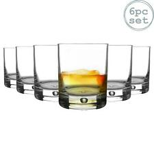 6x Barglass Whisky Glasses Classic Scotch Whiskey Tumblers Bubble Base 280ml