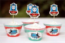 12x Thomas Train SPECIAL Cupcake Topper + Wrapper. Party Supplies Lolly Loot Bag