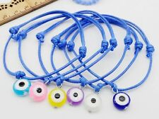 Free Ship 10/100pcs Hamsa String Evil Eye Lucky Red wax Cord Adjustable Bracelet