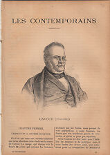 Camillo Benso conte di Cavour ITALIA ITALY  JOURNAL COMPLET 16 PAGES 1892