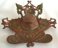 BEAUTIFUL FRENCH AUSTRIAN ANTIQUE ART NOUVEAU INKWELL C.1900