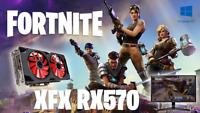 XFX AMD Radeon RX 570 RS Black Edition 4GB (RX-570P4DFD6) PLAY FORTNITE