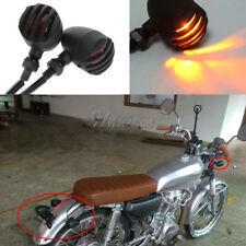 12V Universal Bobber Cafe Racer Chopper Motorcycle Turn Signals Indicator Lights