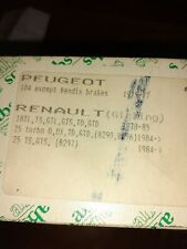 Renault 18,25,Peugeot 104 Brake Shoes