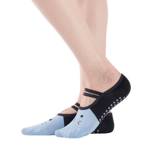 Gym Yoga Socks With Grip Exercise Suit for Non Slip Pilates Massage Ballet MA