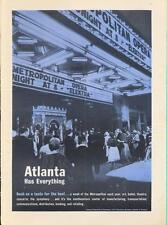 "1962 Atlanta PRINT AD Nightlife Metropolitan Opera ""Elektra"" Art ballet theater"